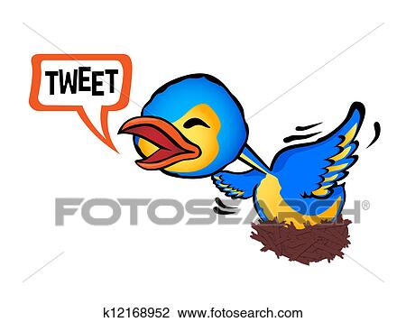 clipart of chirping k12168952 search clip art illustration murals
