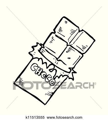 chocolate bar doodle clipart k11513555 fotosearch