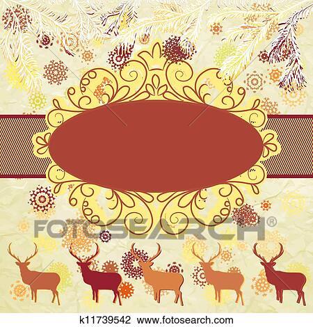 Christmas Invitation Card Template Eps 8 Clipart