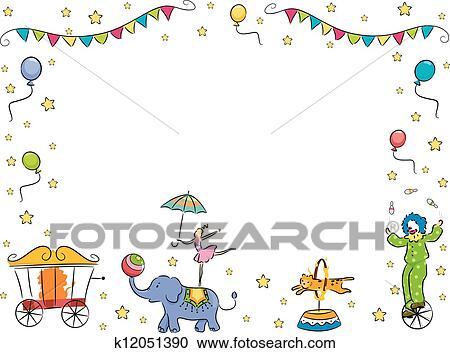 Clipart of Circus Band Border Frame k12051390 - Search Clip Art ...