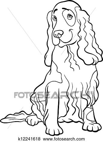 Clip Art   cockerspaniel spaniel, hund, karikatur, für