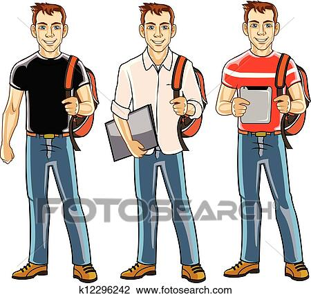 clipart of college student boy k12296242 search clip art rh fotosearch com college classroom clipart college student thinking clipart