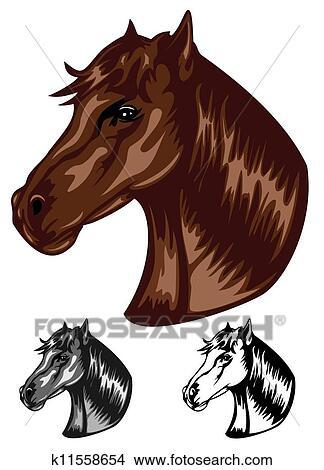 Dessins couleur cheval k11558654 recherche de clip arts d 39 illustrations et d 39 images - Cheval dessin couleur ...