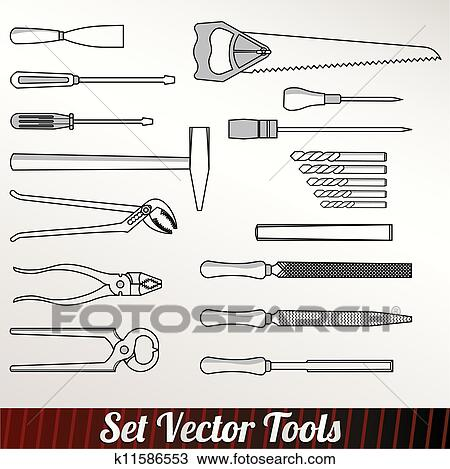 Clipart Of Craft Icons Hand Tools K11586553 Search Clip Art