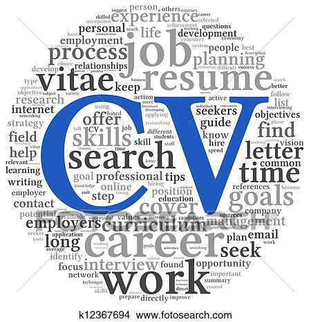 Drawings Of Curriculum Vitae Concept In Word Tag Cloud K12367694