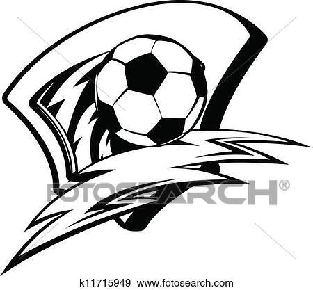 Clipart - de voetbal van het voetbal, verlichting, schild k11715949 ...