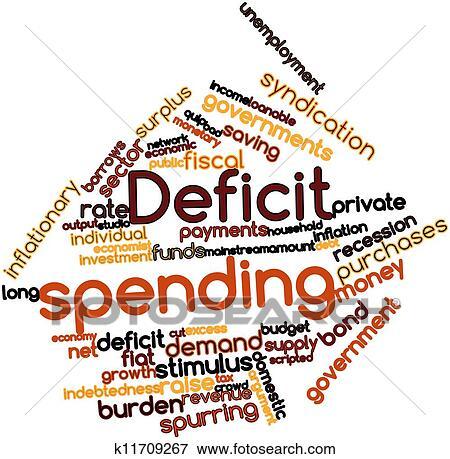 stock illustration of deficit spending k11709267 search eps