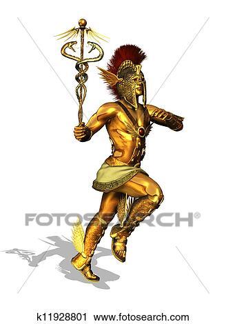 Dios Griego Mercurio Clip Art K11928801 Fotosearch