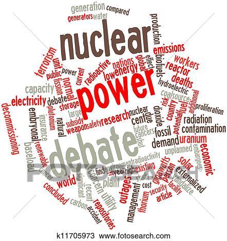 Dibujo Energía Nuclear Debate K11705973 Buscar Clip Art