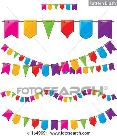 Clipart Fahne Girlande K11549691 Suche Clip Art Illustration