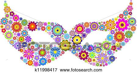 Clip Art Fasching Maske K11998417 Suche Clipart Poster