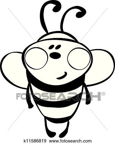 Clip Art Of Funny Bee K11586819