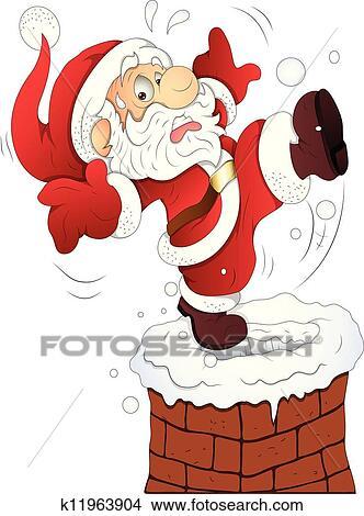 Clipart of Funny Santa Christmas Vector k11963904 - Search ...
