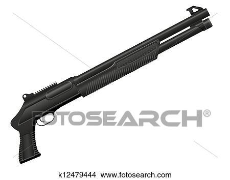 Dessin Fusil De Chasse clipart - fusil chasse, vecteur, illustration k12479444 - recherchez