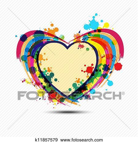 Klip Art Güzel Sanatlarla Ilgili Kalp Boya Tasari K11857579