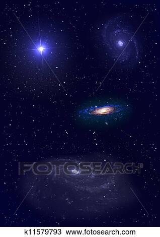 Galaxia Em Um Livre Espaco Desenho K11579793 Fotosearch