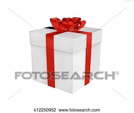 Gift Box Drawing K12250952 Fotosearch