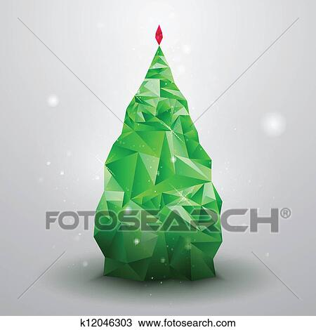 Glassy Christmas Tree Clipart K12046303 Fotosearch