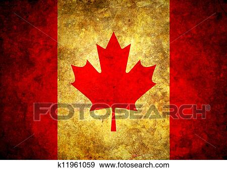 Stock Illustration Of Grunge Canada Flag K11961059 Search Vector