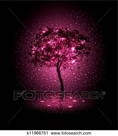 Hand Gemalt Baum Clip Art K11966751 Fotosearch