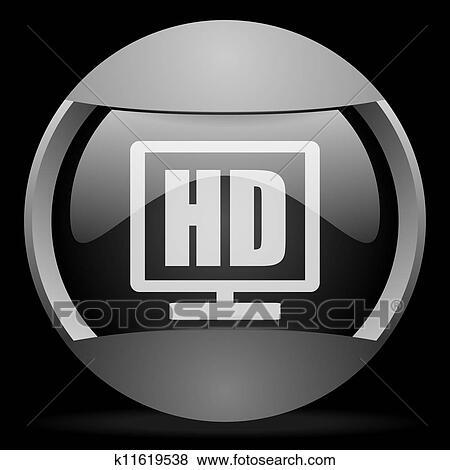 Archivio Illustrazioni Hd Mostra Rotondo Grigio Web Icona Su