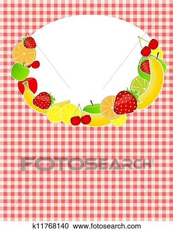 Clipart Of Healthy Food Menu Template Vector Illustration K11768140