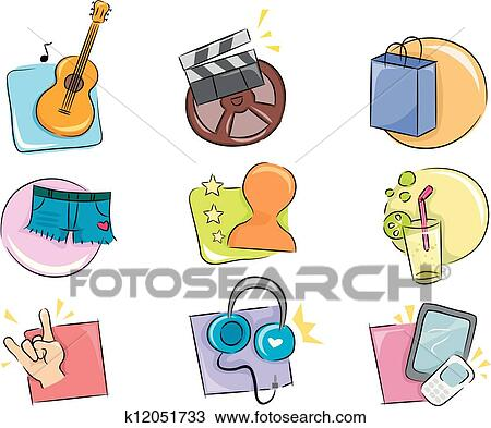 Hobbies And Interests Icon Design Elements Clipart K12051733 Fotosearch