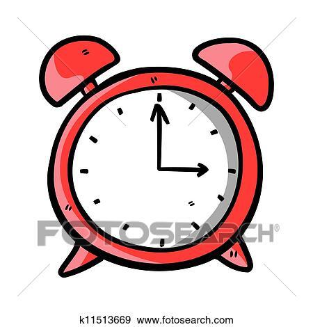 Horloge Griffonnage Clipart K11513669 Fotosearch