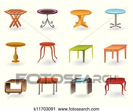 Clipart bureau int rieur et table jardin k11703091 recherchez des clip arts des for Dessin de table de jardin