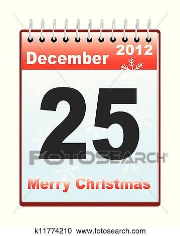 Weihnachten Datum.Kalender Mit Weihnachten Datum Clipart