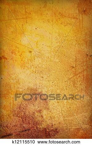 Stock Illustration   Korn, Gelb, /, Braun, Farbe, Wand, Hintergrund