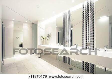 Stock Fotograf - luxus, modernes, badezimmer, suite, mit, bad, und ...
