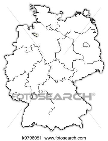 Map of Germany, Bremen highlighted Clip Art | k9796051 ...