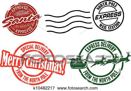 clip art of merry christmas santa stamps k10482217 search clipart rh fotosearch com stamps clipart black and white stamp clip art