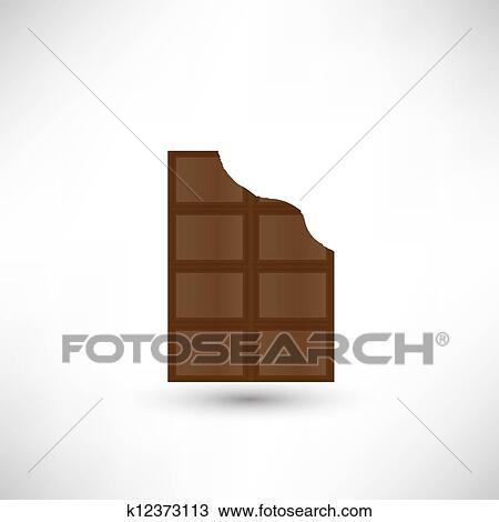 Tavoletta Di Cioccolato Disegno.Morso Spento Uno Pezzo Di Delizioso Tavoletta Di Cioccolato