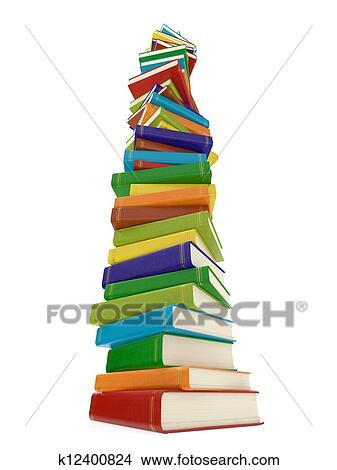 Multi Colore Livre Pile Banque D Illustrations