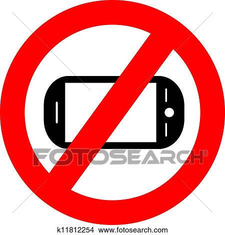 clipart of no cellphone sign k11812254 search clip art rh fotosearch com no cell phone clip art for cars no cell phone clipart
