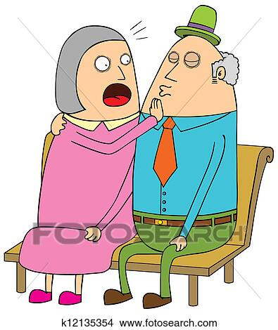 clipart of old couple dating k12135354 search clip art rh fotosearch com old couple clip art in the public domain old couple clipart free