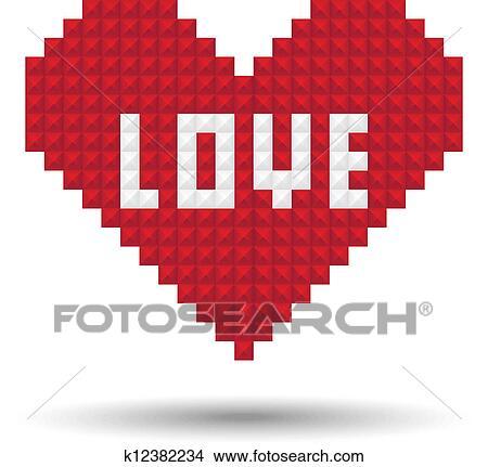 Pixel Coeur Amour Clipart