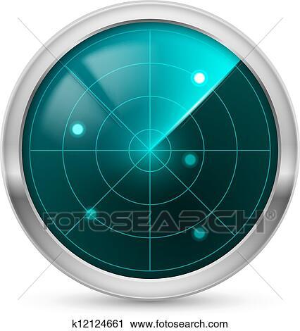 Clipart Radar Symbol K12124661 Suche Clip Art Illustration