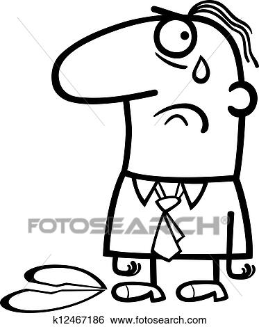 Clip Art Of Sad Man On Valentines Day Cartoon K12467186 Search