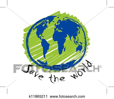 Exceptional Clipart   Save The World Sketch Idea Concept. Fotosearch   Search Clip Art,  Illustration