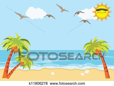 clip art of sea sand beach background k11806278 search clipart rh fotosearch com beach background images clipart beach party background clipart