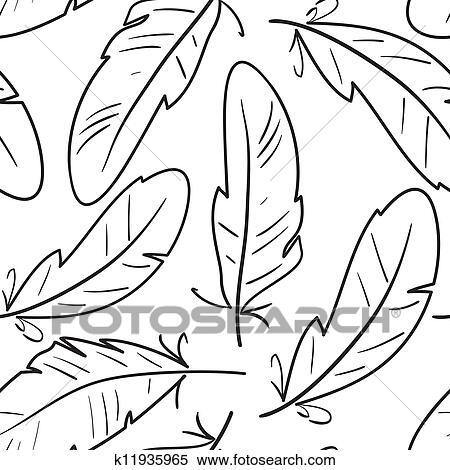 clipart seamless padrão com pássaros penas k11935965 busca