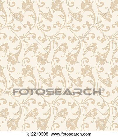 Seamless Wedding Card Background Clip Art K12270308