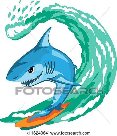 clipart of shark surfer k11624064 search clip art illustration rh fotosearch com surfer clip art free surfer clip art images