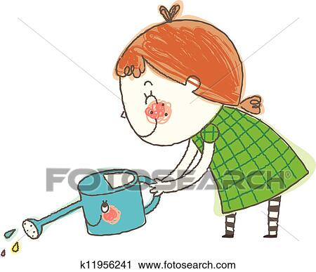 Watering can illustration clipart 3   Watering can, Garden illustration, Clip  art