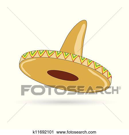 0c61d9083 Klipart - sombrero, klobúk, od, mexico, riadiť, ukážka k11692101 ...