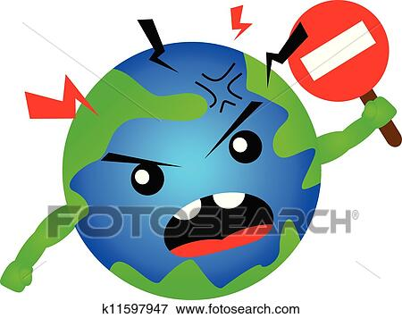 Clip Art Of Stop Global Warming K11597947 Search Clipart