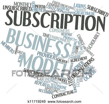 stock illustration of subscription business model k11719249 search rh fotosearch com clip art subscription clip art subscription services